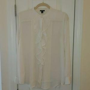 ISO.  Ruffle blouse